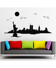 Orka Digital Printed Statue of Liberty Design Wall Sticker - Black