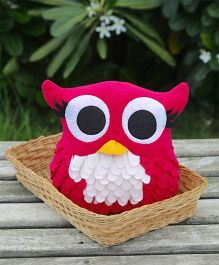 My Gift Booth Cushion Owl Shaped - Dark Pink