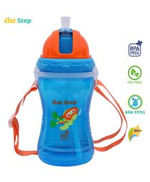 1st Step Straw Sipper Bottle Blue - 360 ml