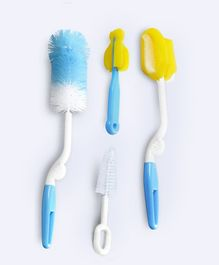 Syga Bottle Cleaning Brush Set of 4 - Blue