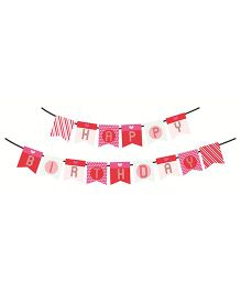 Syga Printed Happy Birthday Banner - Pink