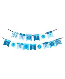 Syga Printed Happy Birthday Banner - Blue