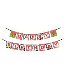 Syga Happy Birthday Banner Animal Printed - Multi Color
