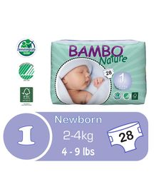 Bambo Nature Diapers New Born - 28 Pieces