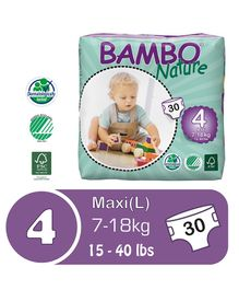 Bambo Nature Diapers Maxi - 30 Pieces