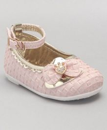 Cute Walk by Babyhug Belly Shoes Bow Appliques - Pink