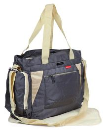 Polyester Diaper Bag With Changing Mat - Grey Beige