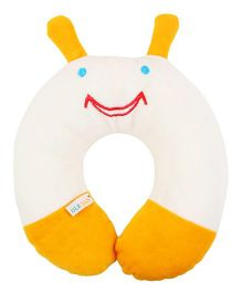 Ole Baby Neck Support Pillow Cartoon Face Shape - Yellow Off White
