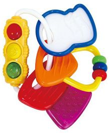 Ole Baby Silicone Teether Rattle Toy With Light (Colour May Vary)