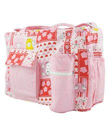 Ole Baby Multi Utility Diaper Bag Heart Print - Pink