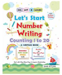 Writing Book Let's Start Numbers Writing Book - English