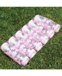 Babies Bloom Feeding Bottle Party Favors Set of 12 Teddy Design - Light Pink