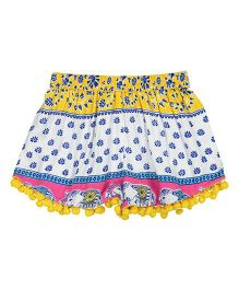 Masala Baby Pom Pom Shorts Passage To India - Yellow