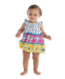 Masala Baby Sail Away Sleeveless Top With Ruffle Bloomer - Multicolor