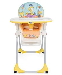 Chicco High Chair Birdie Print - Yellow