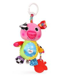 Lamaze Olly Oinker Clip On Soft Toy Pink - 37 cm