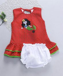 M'Princess Basics Doll Applique Dress - Red