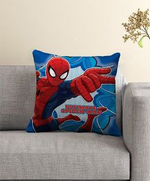 Marvel Spider Man Print Filled Cushion With Cover - Blue