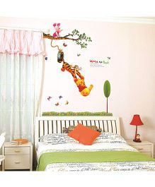 Oren Empower Hanging Winnie The Pooh Wall Sticker - Multicolor