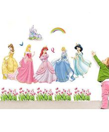 Oren Empower Disney Princess Wall Sticker Large - Pink Blue Yellow