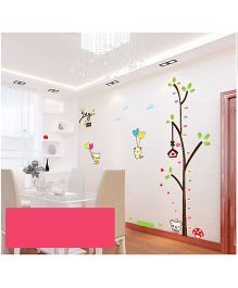 Oren Empower Cartoon & Tree Height Measuring Large Wall Sticker - Multicolour