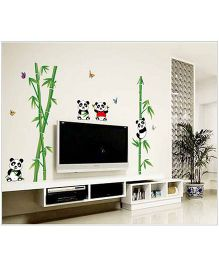 Oren Empower Panda & Bamboo Wall Sticker - Multi Colour