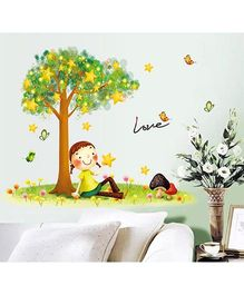 Oren Empower Girl Wall Sticker - Multi Colour