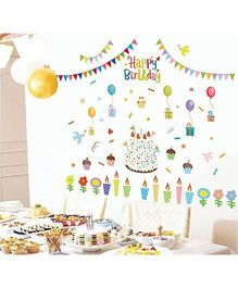 Oren Empower Happy Birthday Wall Sticker - Multi Colour