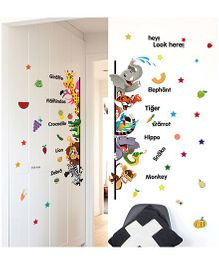 Oren Empower Educational Theme Based Wall Decals - Multicolour