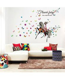 Oren Empower Riding Fairy Wall Decals - Multicolour