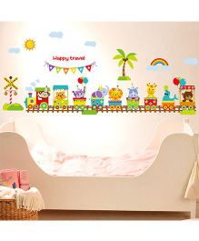 Oren Empower Animals Train Wall Decals - Multicolour