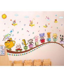 Oren Empower Cartoon Train Wall Decals - Multicolour