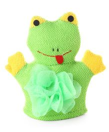 Baby Bath Glove Frog Shape (Color May Vary)