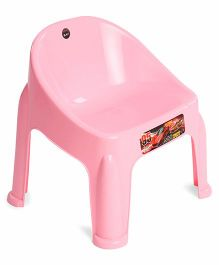 Ratnas Plastic Chair Car Print - Pink