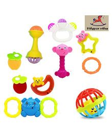 VibgyorVibes Rattle Toy Set Of 10 - Multicolour