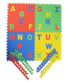 NHR Puzzle Mat With Pop Out Alphabet Pack of 4 - Multi Colour
