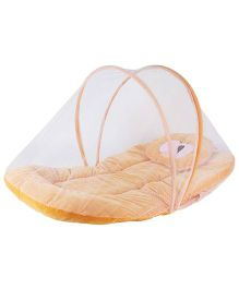 My Newborn Mosquito Net With Mattress - Orange