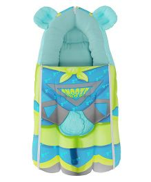 Fancy Fluff Sleeping Bag Bear Design - Sea Green