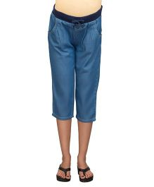 Kriti Under Belly Chambray Capri -  Blue