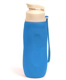 Baby Oodles Collapsible Silicon Sipper Water Bottles Blue - 750 ml