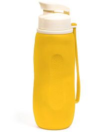 Baby Oodles Collapsible Silicon Sipper Water Bottles Yellow - 750 ml
