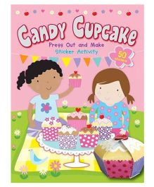 Candy Cupcake Press Out And Make Sticker Activity Book - English