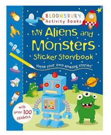 My Aliens And Monsters Sticker Storybook - English