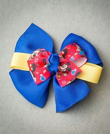 Ribbon Candy Bow Alligator - Blue Red & Yellow
