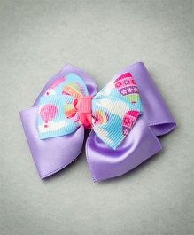 Ribbon Candy Hot Air Balloon Clip - Pink Purple & Blue
