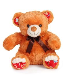 Liviya Sitting Teddy Bear Soft Toy With Designed Paw Orange - 54 cm
