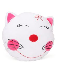 Playtoons Kitty Face Cushion - White