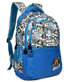 Minion Character Printed School Bag Blue - 19 Inches