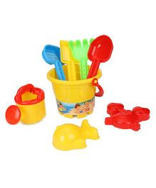 Sunny Beach Set Yellow  - 8 Pieces