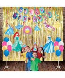 Party Propz Princess Combo Birthday Decoration Set Pink & Multicolor - 33 pieces